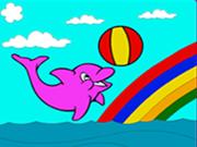 Delfín lindo para colorear