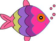 Colorear lindo de los pescados