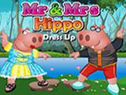 Sr. y la Sra Hippo Dress Up