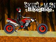 Hombre del cráneo Bike Ride