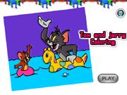 Tom y Jerry para colorear