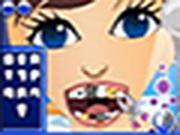 Chica Zippy al dentista
