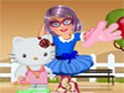 Zoe con Hello Kitty Dress Up
