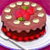 Decoración de la torta de chocolate