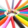 Lápices de colores deslizante