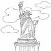 Coloring Monuments America – 1 – Statue of Liberty