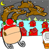 Colorear renos de Santa Claus