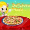 Cocinar deliciosa pizza