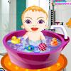 Cute Girl baño del bebé