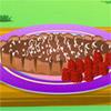Delicioso pastel de chocolate