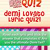 Demi Lovato Lyric Cuestionario