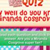 DM Cuestionario: ¿Conoce Miranda Cosgrove?