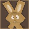 Los conejos de Pascua de chocolate 3d