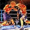 Bomberos combate de boxeo