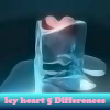 Corazón helado 5 diferencias