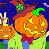 Jack-o'-Lantern Halloween Coloring Game