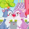 Gatito amor beso