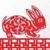 Saltar conejo afortunado