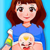 Mamá dar a luz al bebé recién nacido