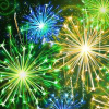 Año Nuevo artificiales