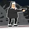 Monja con una pistola