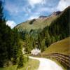 Carrera en los Alpes