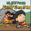 Dormir hombre de las cavernas