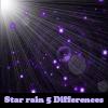 Lluvia de estrellas 5 diferencias