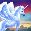 El Último Unicornio con alas