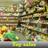 Las ventas de juguetes. Encuentra objetos