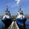 Gemelas Barcos deslizante