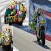 Valentino Rossi new helmet puzzle