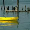 Amarillo Barco deslizante