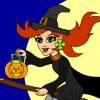 Young Witch Halloween Coloring Game