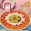 Fruta deliciosa pizza